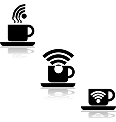 Coffee wifi vector image