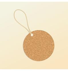 Cork natural tag label vector image