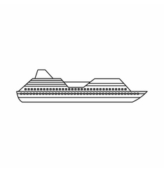 Cruise liner icon outline style vector image vector image