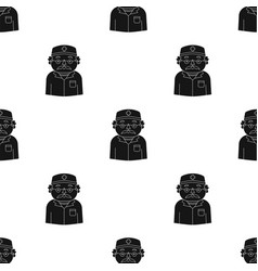 doctor icon in black style isolated on white vector image