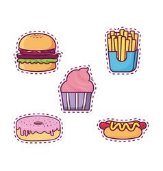 fast food design concept vector image