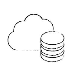figure database optimization server banner icon vector image