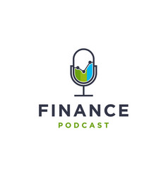 Finance business podcast logo icon vector