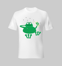 frog on vacation fun typography t shirt template vector image