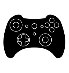 Game controller silhouette outlines gamepad x box vector