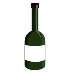 green liquor bottle graphic vector image vector image