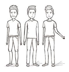 Hand drawn people design vector