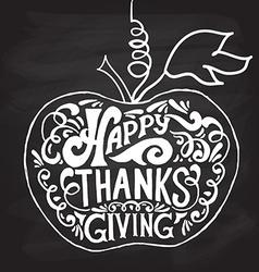 Happy Thanksgiving Day logotype badge and icon vector image