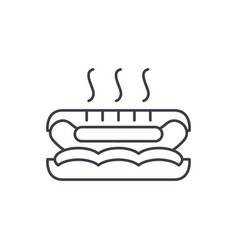 hot dog line icon concept hot dog linear vector image