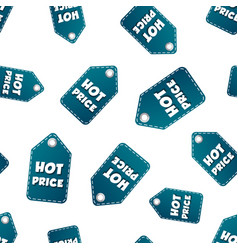 hot price hang tag seamless pattern background vector image