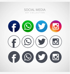 Icons for social networking design vector