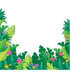 Image with jungle theme 7 vector
