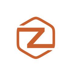 Initial g hexagon logo vector