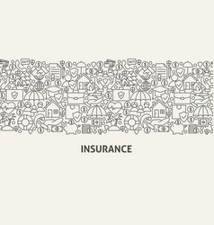 insurance banner concept vector image