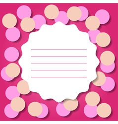 Invitation or Greeting Card Template vector image