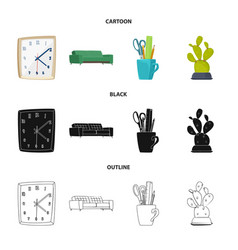 isolated object furniture and work symbol set vector image