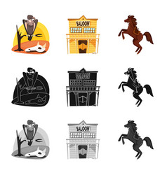 Isolated object texas and history icon vector