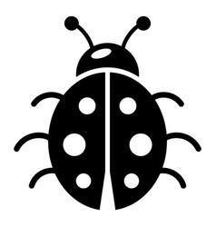 ladybug icon simple black style vector image