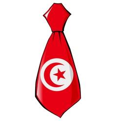 Necktie in national colours of Tunisia vector