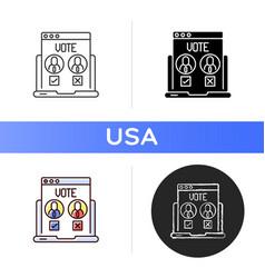 online voting icon vector image