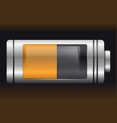 orange metal with glass battery vector image
