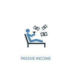 Passive income concept 2 colored icon simple blue vector