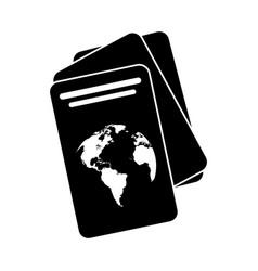 Passport document identification pictogram vector