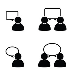 people icon with dialog speech bubbles vector image