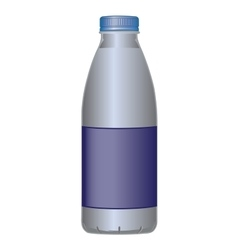 PET bottle dairy product for milk and liquids vector image