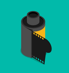Photographic film icon flat design style modern vector