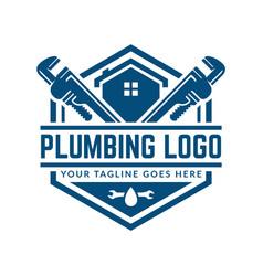Plumbing logo template easy to customize vector