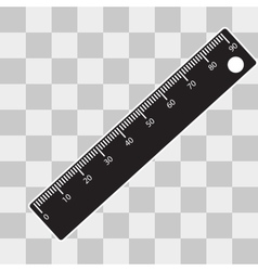 Ruler icon on transparent background vector image