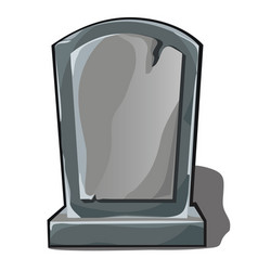 Sepulchral monument gray stone with space vector