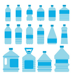 set of plastic bottles for water pictures vector image