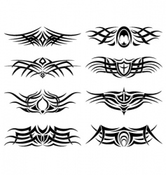 set of tribal tattoo including vector image