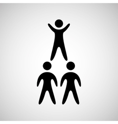 silhouete men pyramid persons design vector image