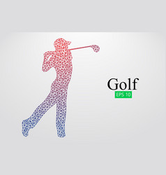 silhouette of a golf player vector image