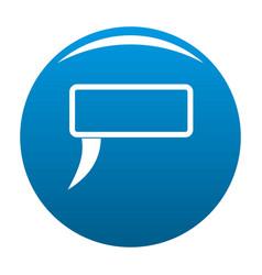 Speech bubble icon blue vector