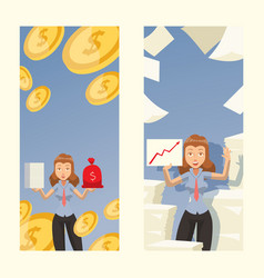 successful woman in business career female vector image