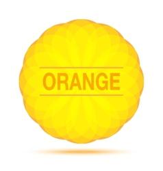 Sunny circular orange logo emblem vector