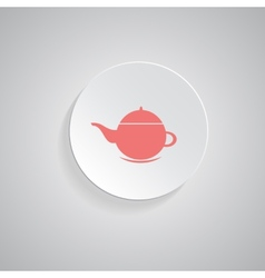 teapot icon coffee pot symbol vector image