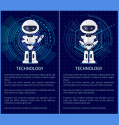 technology collection robot vector image