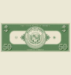 Usa fictional paper money dedicated to 50th vector