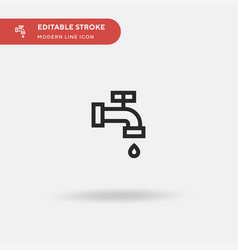 water pipe simple icon symbol vector image