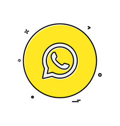 Whatsapp icon design vector