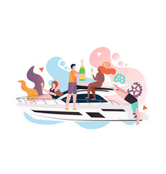 yacht travel concept for web banner vector image