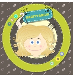 Zodiac signs collection horoscope - SAGITTARIUS vector image vector image