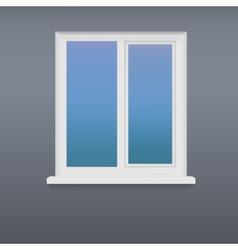 Closed white plastic window vector image