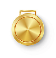 Competition games golden medal template vector