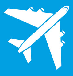 passenger airliner icon white vector image